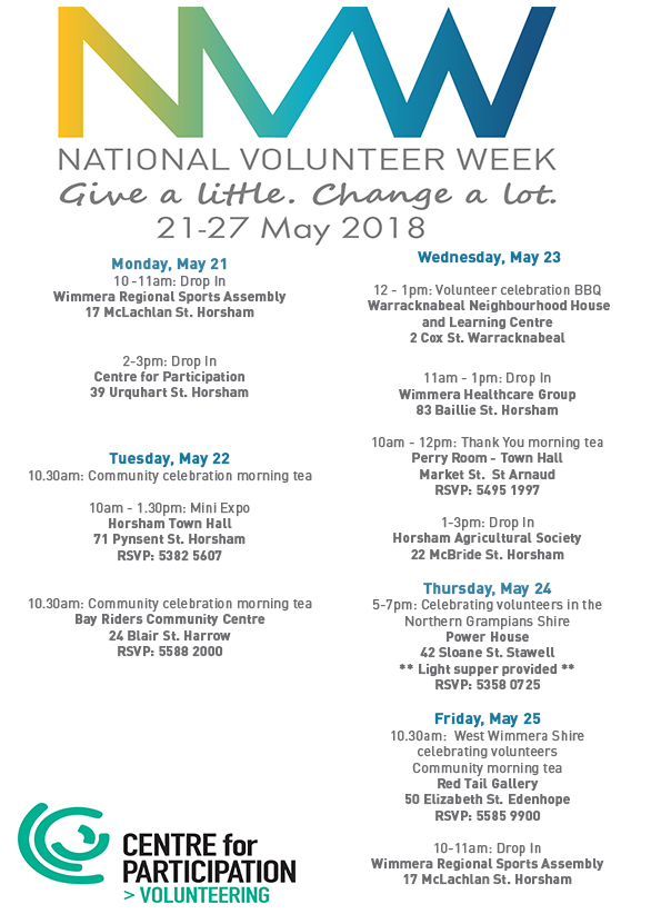 What's on for #NVW2018?